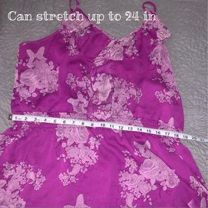 Apt. 9 Tops - Apt 9 Dressy Top Bright Purple Floral XL
